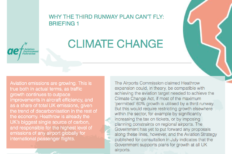Featured image for AEF briefing highlights failure of Heathrow NPS to address climate change